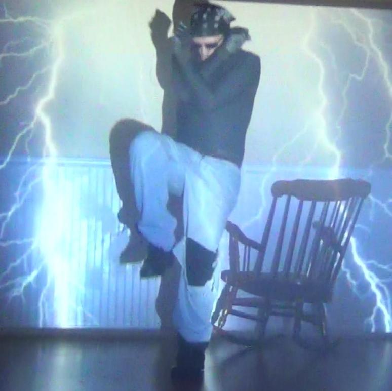 Lightning strike on Rango by rocking chair.