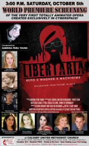 Poster art for the world premiere of Liberteria.