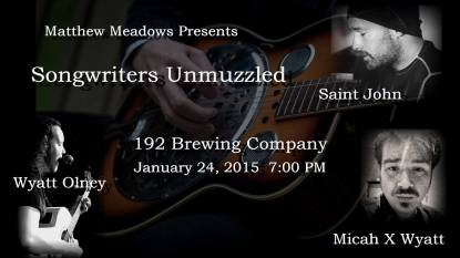 Promotional artwork for Songwriters Unmuzzled